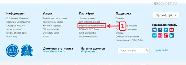 Как заработать на регистрации доменов на Reg ru
