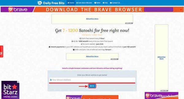 Daily Free Bits бесплатный кран биткоинов