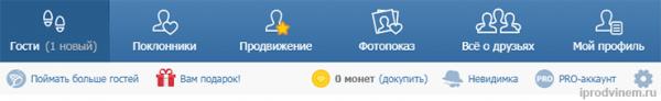 Приложение Мои Гости для Вконтакте