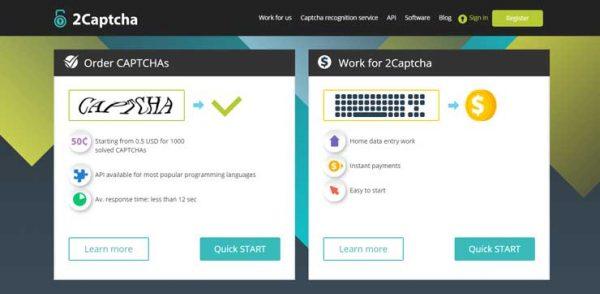 2Captcha - Заработок на вводе капче ENG