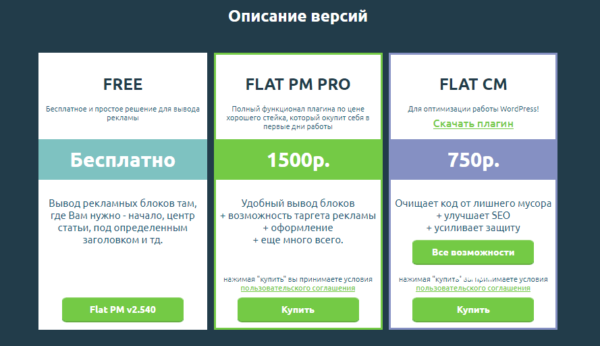 Покупка плагина Flat PM Pro
