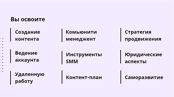 Курс Профессия_ SMM менеджер от SMM.school