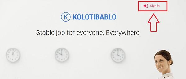 Регистрация на сайте Колотибабло