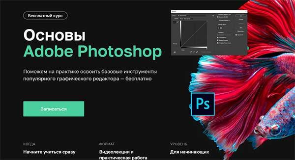 Бесплатный курс «Adobe Photoshop основы для веб дизайнера» от Нетологии