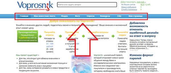 Интерфейс Вопросника