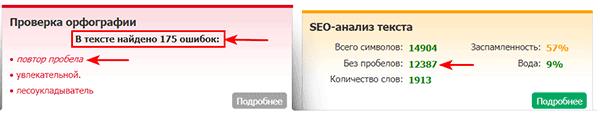 175 ошибок в тексте на бирже Text.ru