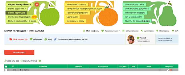 Биржа переводов для заказчика на бирже Text.ru