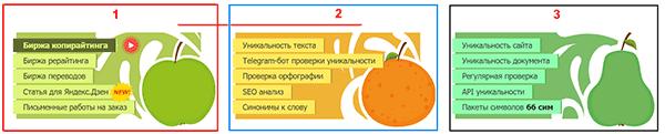 Основные блоки личного кабинета на бирже Text.ru