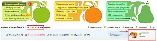 Статус исполнителя на бирже Text.ru