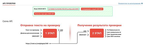 API проверка на бирже Text.ru
